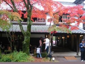亀の別荘敷地内の「湯の岳庵」 宿泊客に限らず誰もが楽しめる一角